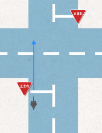 Intersection without  traffic light