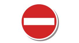 No vehicle entry