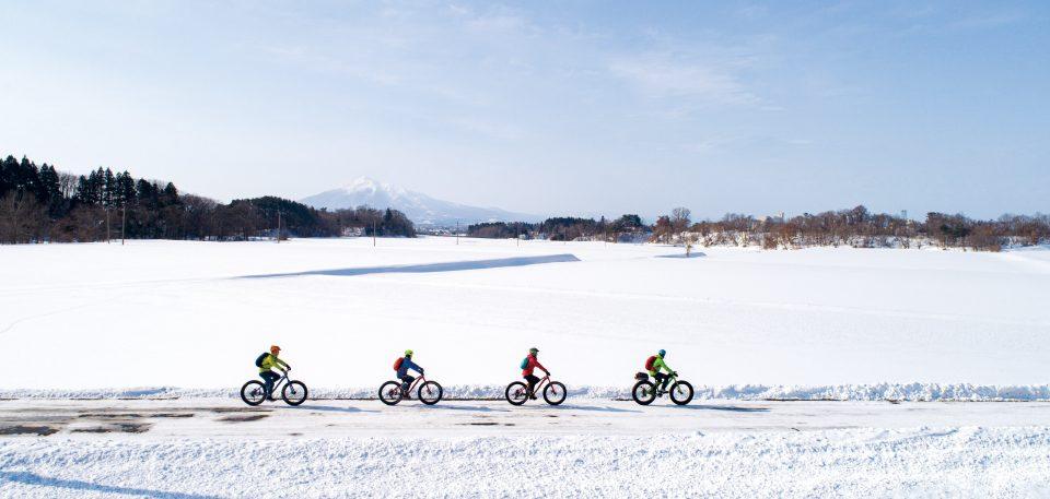 Enjoy Winter in Goshogawara! Goshogawara Snow Cycling