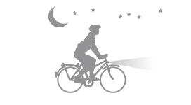 夜間騎車開燈