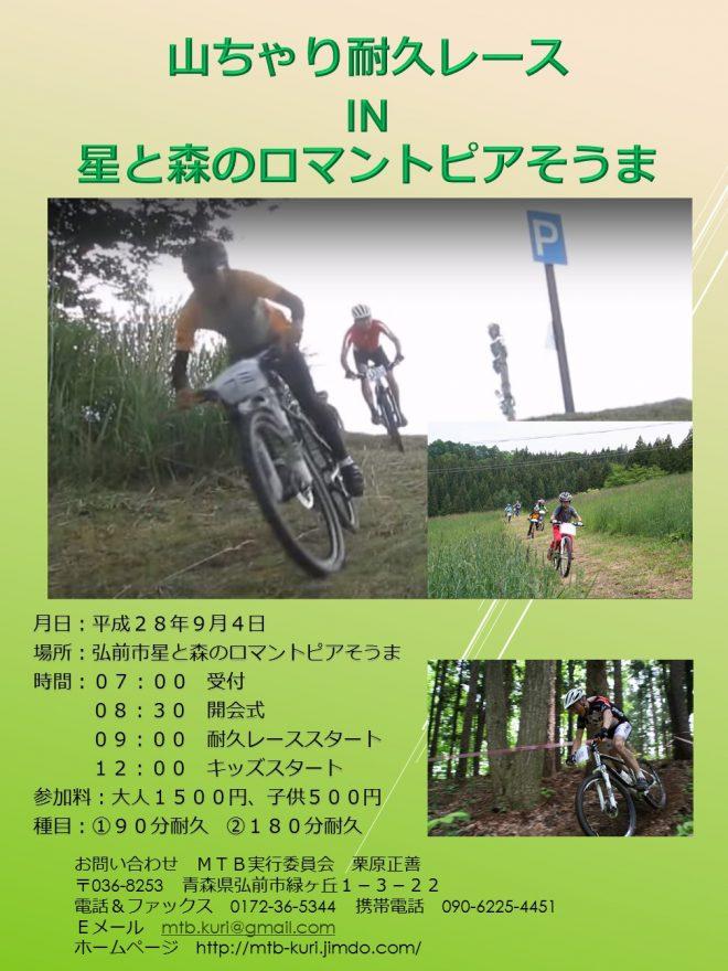 山ちゃり耐久レース IN 星と森のロマントピアそうま2016 秋