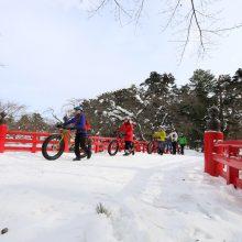 冬の弘前城と城下町を巡る弘前トラディショナルツアー