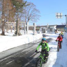 五所川原の冬と遊ぶ!五所川原スノーサイクリング