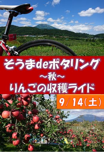 そうまdeポタリング~秋~りんごの収穫ライド